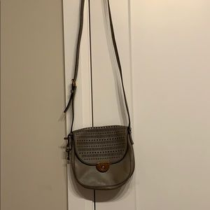 Grey side purse